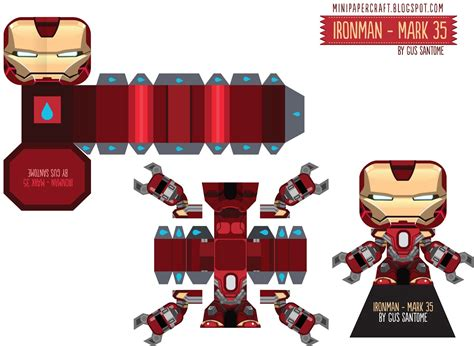 Ironman Papercraft - mini papercraft ironman 3 17 35 38