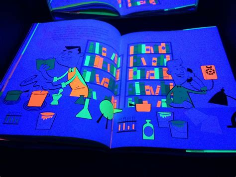 the light books glowing books for the black light booth sturdy for