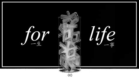 exo for life lyrics exo 엑소 for life 一生一事 chinese pinyin english lyrics