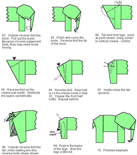 How To Make A Elephant Origami - free coloring pages origami in
