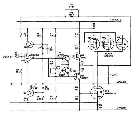 Power Lifier Crest Audio cl ab transistor power lifier circuit diagram wiring diagram