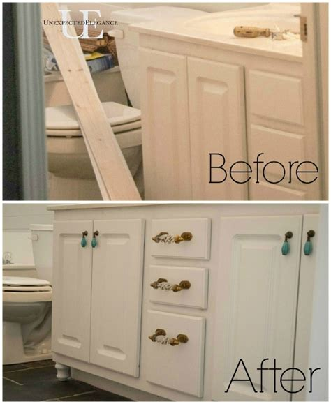 what are builder grade cabinets made of how to transform a builder grade bathroom vanity for less