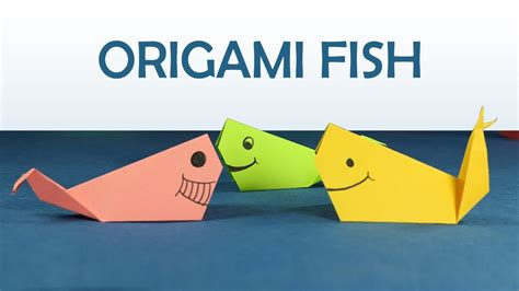 craft easy origami for diy origami fish step
