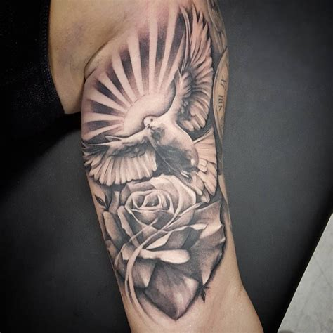 dove and rose tattoos pin by veto gonzales on s tattoos