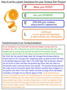 What To Write In The Conclusion Of An Essay by How To Write A Scientific Conclusion By Seasquirt Teaching Resources Tes