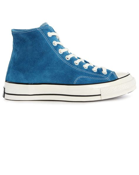 chuck sneakers for converse 70s chuck hi blue suede sneakers in blue for