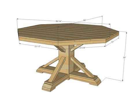 benchmark pedestal base octagon table octagon table diy