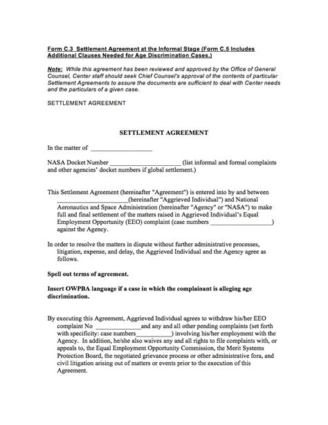 settlement agreement template uk images templates design