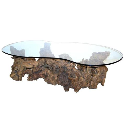 root coffee table burl wood root coffee table at 1stdibs