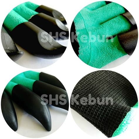 Garden Genie Gloves Sarung Tangan Kebun shs kebun gardening gloves with abs claws helps you do gardening with ease