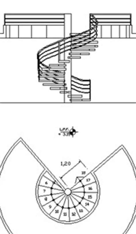 scale interne dwg scale circolari 2d