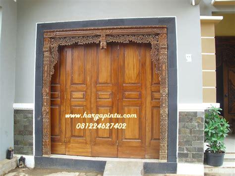 Pintu Jendela Dan Pintu Garasi mode pintu gebyok garasi kayu jati mebel jepara murah