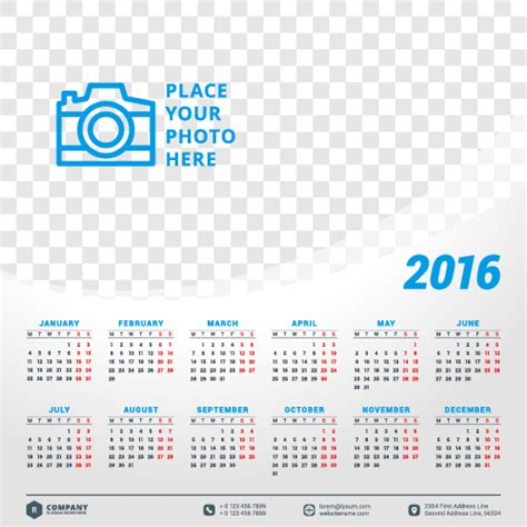 design calendar for 2016 2016 company calendar creative design vector 06 vector