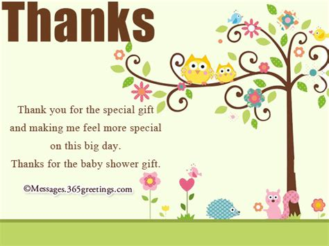 Baby Shower Gift Thank You Card Messages - baby shower thank you notes 365greetings com