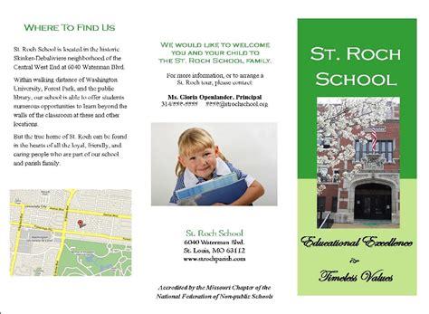 exles of brochures for schools sle school brochure