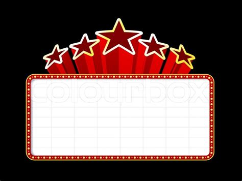 New Home Plans And Prices by Blank Movie Theater Or Casino Marquee With Stars Isolated