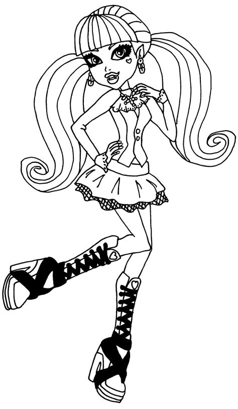 Draculaura By Elfkena On Deviantart High Draculaura Coloring Pages