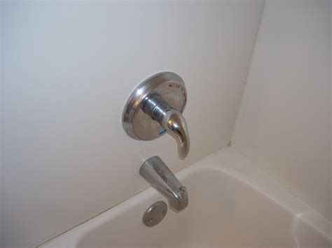 How To Replace Shower Knobs by How To Replace A Single Handle Bathtub Faucet Yourself