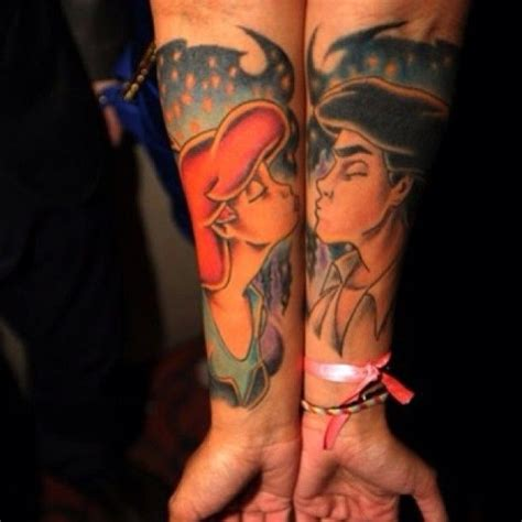15 awesome couples tattoos pop culture edition ariel
