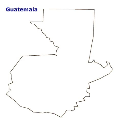 guatemala map coloring page map of guatemala terrain area and outline maps of