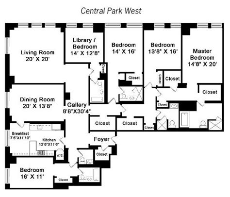 15 cpw floor plans 15 central park west new york floor plans thefloors co