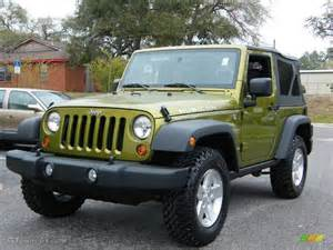Green Jeep Colors 2008 Rescue Green Metallic Jeep Wrangler Rubicon 4x4