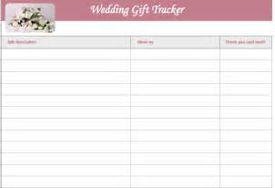 gift registry template wedding gift list template microsoft excel templates