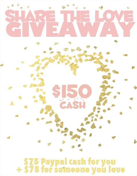 Love Giveaway - 150 share the love giveaway little us