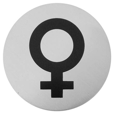 female bathroom symbol urban steel female symbol bathroom sign
