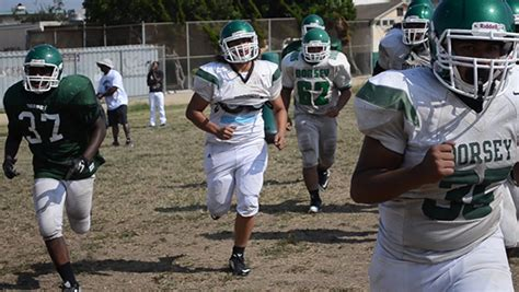 la city section football young dorsey team goes deep into playoffs los angeles