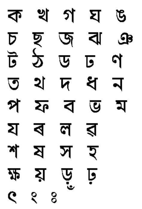 Letter Assamese Assamese Alphabet Assam Portal