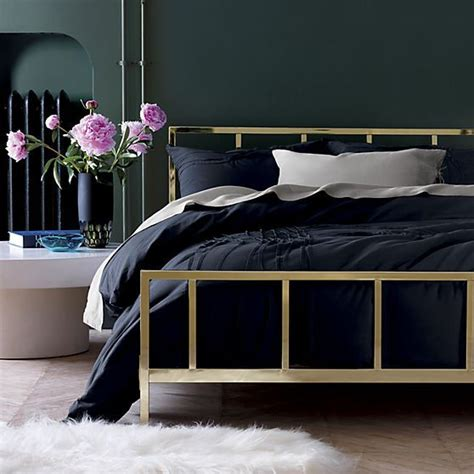 cb2 bedroom alchemy shiny brass bed cb2 oh no having serious bed