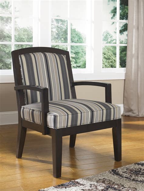 ashley yvette steel showood accent chair black big sandy superstores