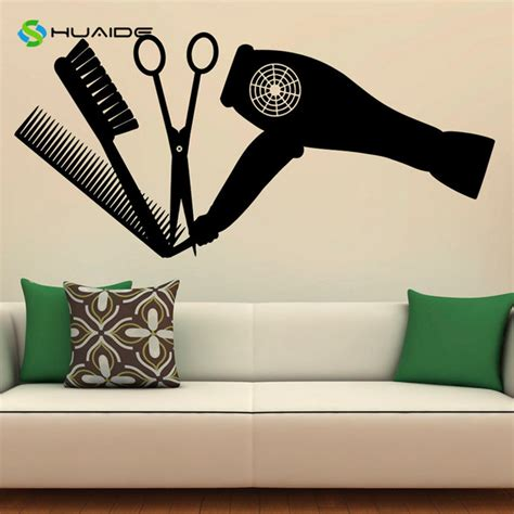 salon wall murals hair salon tools wall decal vinyl stickers hairdressing