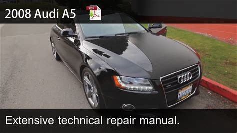 how to download repair manuals 2008 audi rs 4 spare parts catalogs 2008 2009 2010 audi a5 technical repair manual youtube