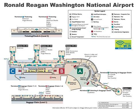 washington dc map showing airports ronald washington national airport map
