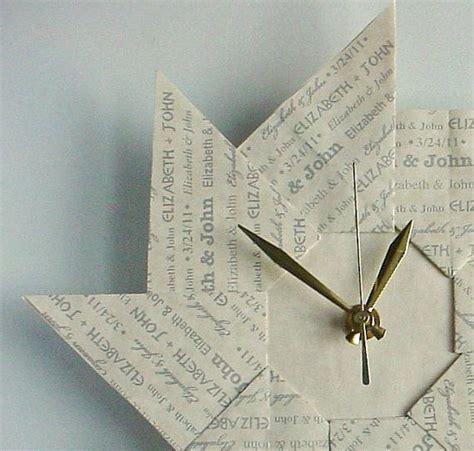 Origami Anniversary - 1st anniversary gift idea personalized origami clock