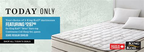 Sears Mattress Sale by Sears Canada Flash Sale Save Up To 70 Select