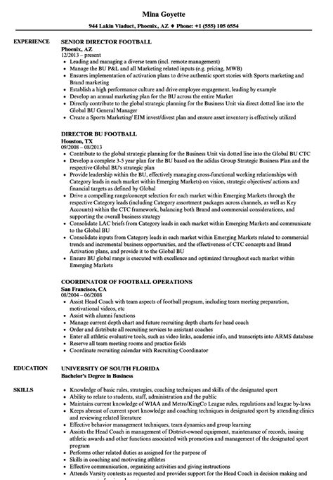 football equipment manager sle resume football manager sle resume microsoft word letter