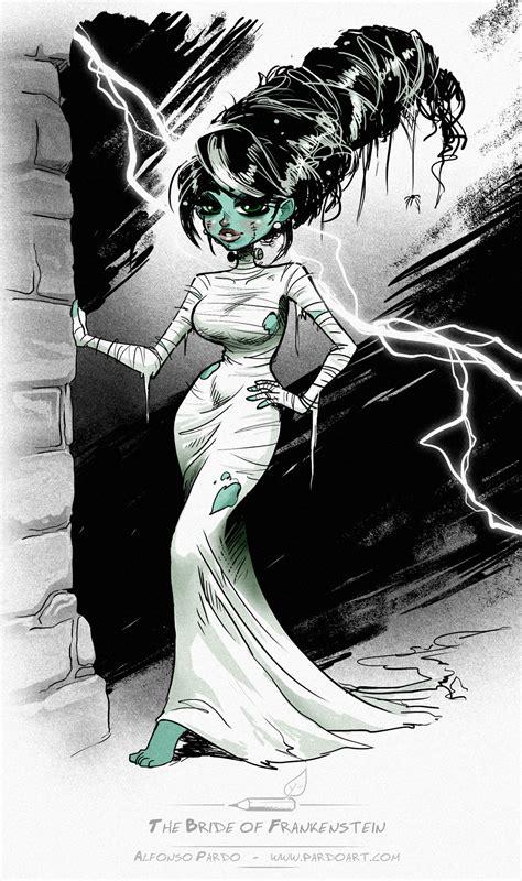 the bride of frankenstein sketch by pardoart on deviantart