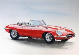 Jaguar Bmw Autozeichnung Car Drawing Classic Cars Jaguar Bmw Mercedes