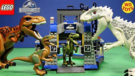 Frame Lego Jurassic World New Lego Jurassic World Raptor Escape Set Vs Indominus Rex