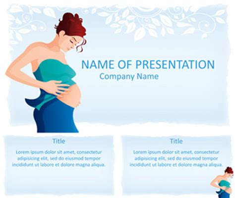 pregnancy powerpoint template templateswise com