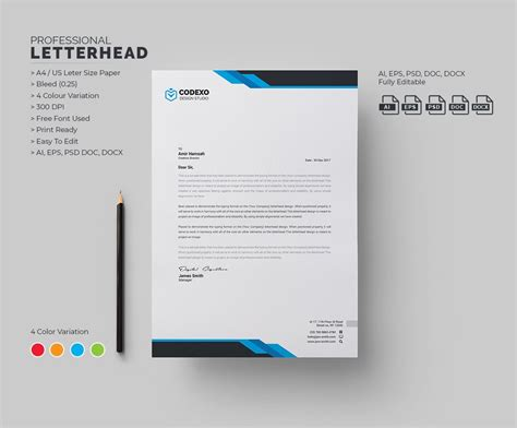 letterhead stationery templates creative market