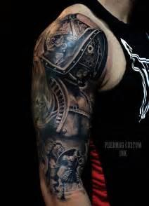 roman gladiator sleeve tattoo tattoos pinterest