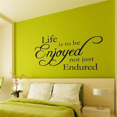 wall decal quotes for living room just enjoy life removable fine quality vinyl black wall