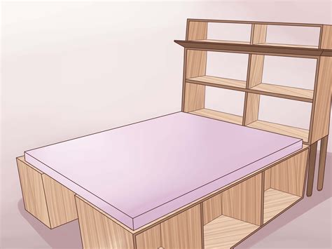 3 Ways To Build A Wooden Bed Frame Wikihow Bed Frame Construction