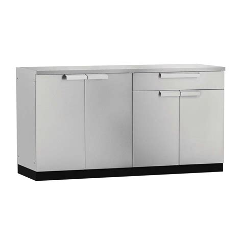 Kitchen Cabinet Sets Home Depot by Newage Products Stainless Steel Classic 3 97x36x64