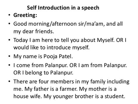Introduce Yourself In Personal For Mba by Llb I Ecls U 5 Presentation Skills I