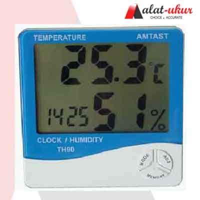 Jam Waker Digital Dilengkapi Kalender Dan Pengukur Suhu alat ukur thermometer hygro dan jam th90